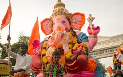 En Septiembre se festeja : Ganesh Chaturthi. Festival de Ghanesa