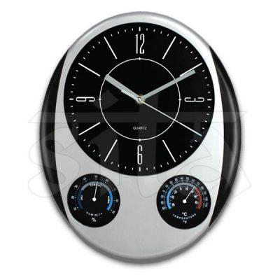 Reloj c/termometro e hidrometro 28cm