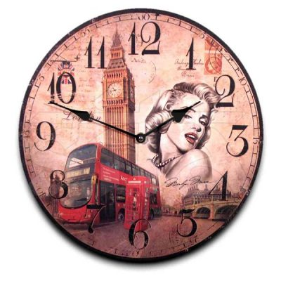 Reloj de madera  33cm 192993  Surtidos