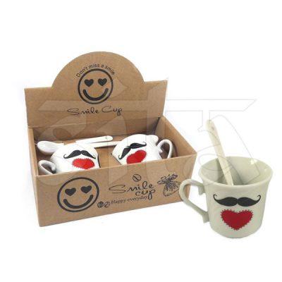 Set de 2 Tazas de Café con cuchara 274644