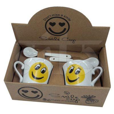 Set de 2 Tazas de Café con cuchara 274646