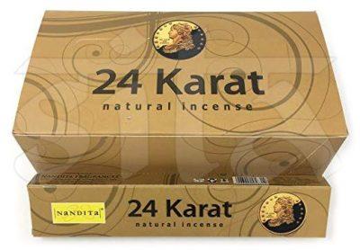 Caja de Incienso Masala x12 24 KARAT Nandita 15gr